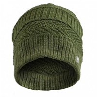 Image for Olann Green Woven Detail Beanie