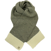 Image for Olann White Grey Contrast Scarf