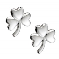 Image for Sterling Silver Shamrock Stud Earrings, Mini-Medium