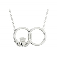 Image for Sterling Silver Claddagh Circle Necklet