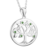 Image for Sterling Silver Crystal Tree Of Life Pendant