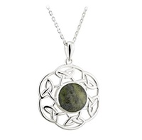 Image for Sterling Silver Marble Open Celtic Pendant