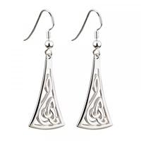 Image for Sterling Silver Long Celtic Drop Earrings