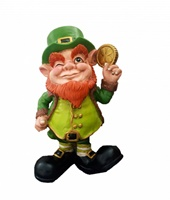 Image for Leprechaun with Gold Shamrock Coin