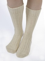 Image for Kerry Woollen Mills Organic Wool Sox, Natural
