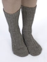 Image for Kerry Woollen Mills Organic Wool Sox, Brown