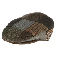 Image for Tweed Patchwork Vintage Cap