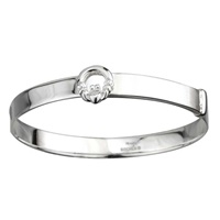 Image for Sterling Silver Claddagh Baby Bangle