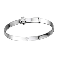 Image for Sterling Silver Shamrock Baby Bangle