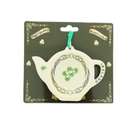 Image for Ceramic Tea Bag Holder, Shamrocks