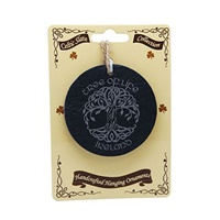 Image for Natural Slate Hanging Ornament, Tree Of Life