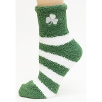 Image for Donegal Bay Irish Stripe Fuzzy Socks