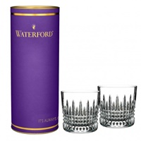 Image for Waterford Giftology Lismore Diamond 9oz Tumbler Pair in Purple Box
