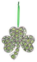 "Image for 4.5"" Shamrock Gem Ornament"