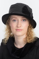 Image for Kelly Wax Velvet Bow Fashion | Rain Hat by Kathleen McAuliffe