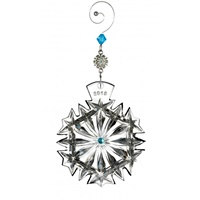 Image for Waterford Crystal 2018 Snowflake Ornament - Happiness