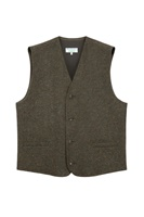 Image for Gents Olive Green Tones Waistcoat in Donegal Tweed