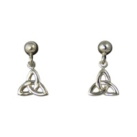 Image for Sterling Silver Tiny Trinity Drop Earrings