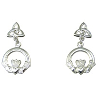 Image for Trinity and Claddagh Earrings - Sterling