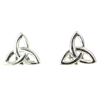 Image for Trinity Knot Celtic Clip On Earrings Sterling Silver