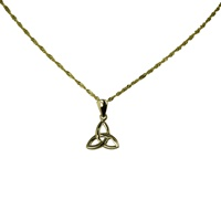 Image for 14 K Yellow Gold Trinity Knot Pendant