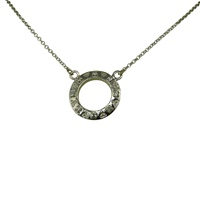 Image for Sterling Silver Trinity Halo Pendant