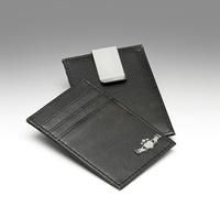 Image for Leather Credit Card Holder and Money Clip, Claddagh