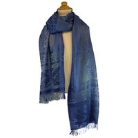 Image for Celtic Motif Stole by Jimmy Hourihan Blue Colour