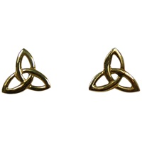 Image for 14KT Trinity Knot Post Earrings 12mm