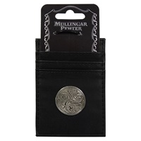 Image for Leather Credit Card Holder and Money Clip, Tri Spiral