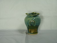 Image for Colm De Ris Irish Pottery Mantra Vase, Green Small