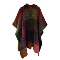 Image for Branigan Hooded Ruana, Multi Mulberry