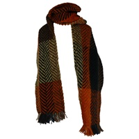 Branigan Weavers Multi Rust Scarf
