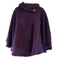 Branigan Weavers Laura Poncho - Mulberry