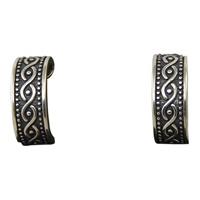 Image for Sterling Silver Atlantic Weave Huggie Earrings