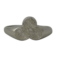 Image for Ogham Silver Newgrange Tri Spiral Ring