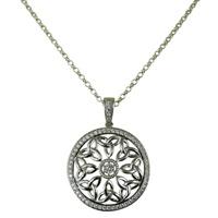 Image for Trinity Knot CZ Stone Set Small Round Pendant