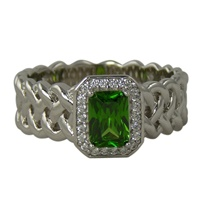 Image for Sheelin Sterling Silver Emerald CZ Ring