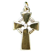 Image for 14K Yellow Gold Diamond Cross Pendant