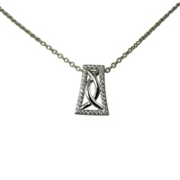 Image for River Run Pave and CZ Stone Set Celtic Pendant