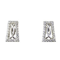 Image for River Run Pave and CZ Stone Set Celtic Earrings