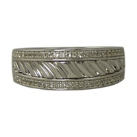 Image for Sterling Silver Pave Set CZ Wave Ring