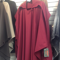 Image for Jimmy Hourihan Wool and Cashmere Irish Cape, Deep Red