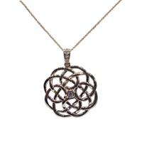 Image for Celtic Art Pendant 14K Gold and Diamond