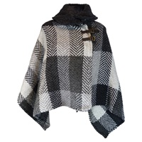 Branigan Weavers Shawl Collar Multi Grey