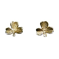 Image for 10K Gold Shamrock Earrings