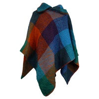 Branigan Weavers T Poncho, Multi True Blue