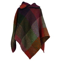 Branigan Weavers T Poncho, Multi Mulberry