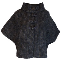 Image for The Rita Cape by Branigan Weavers Eco Navy Multi