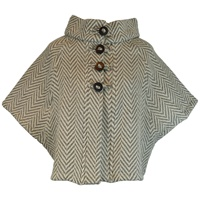 Image for The Rita Cape by Branigan Weavers Lt. Grey/Cream